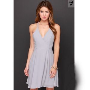 Dresses & Skirts - LULUS EXCLUSIVE DREAM ABOUT ME GREY DRESS